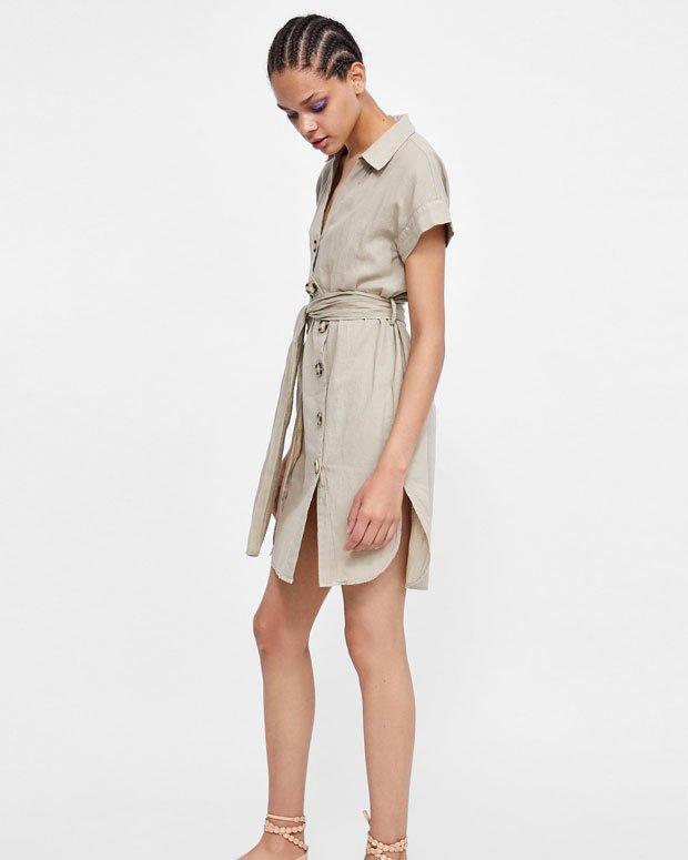 Kemerli Bizon Elbise